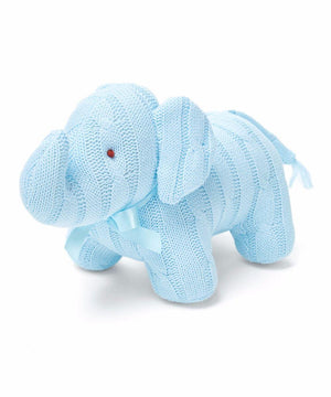 Baby Mode Cable Knit Elephant Blue