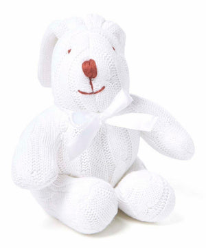 Baby Mode Cable Knit Bunny White