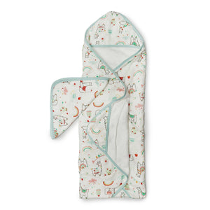 Lou Lou Lollipop Hooded Towel And Washcloth Set Llama