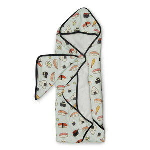 Lou Lou Lollipop Hooded Towel And Washcloth Set Sushi