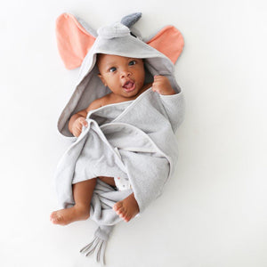 Posh Peanut Hooded Towel Peanut The Elephant