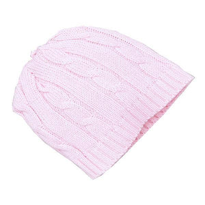 Tots Fifth Avenue Cable Knit Hat Pink