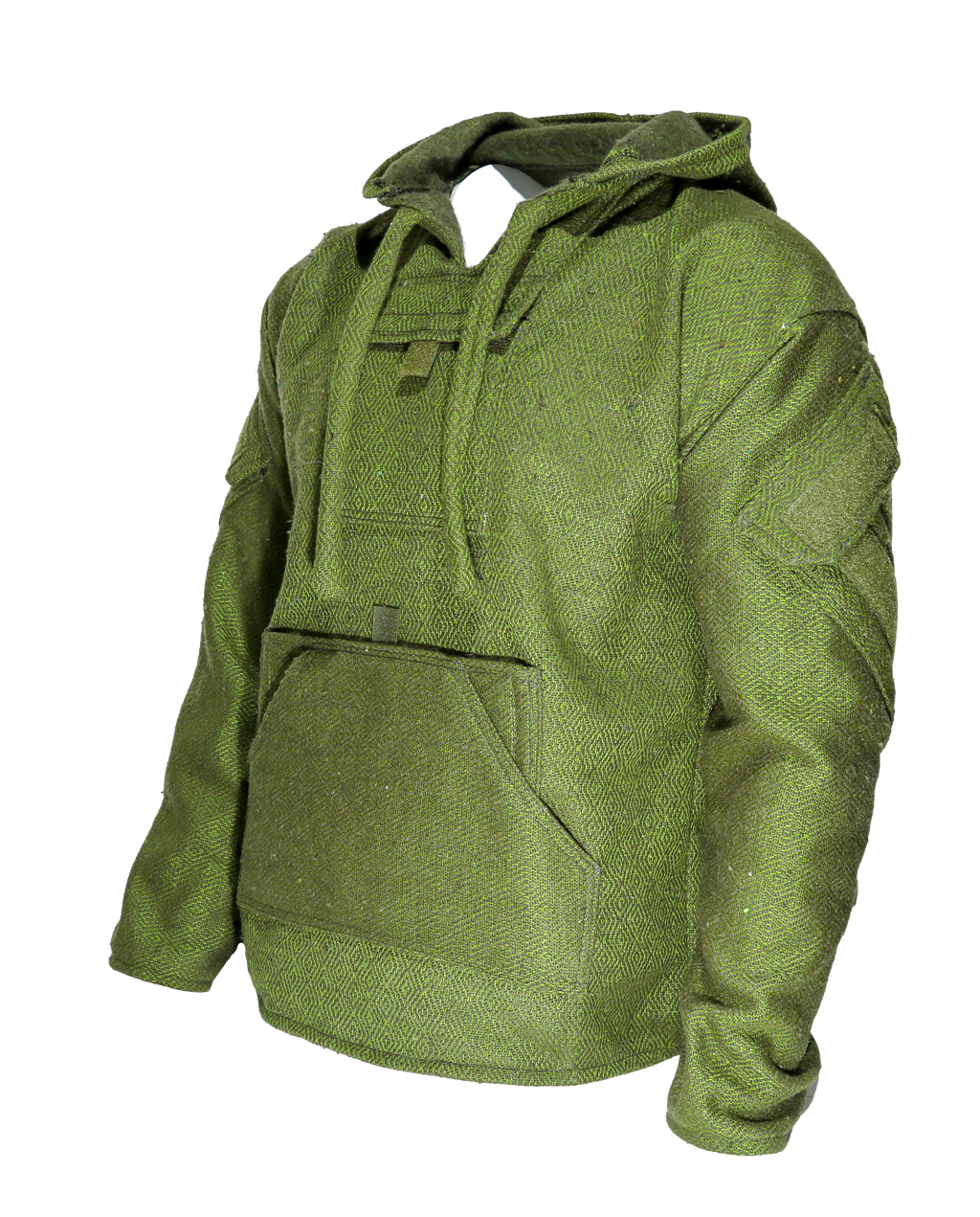 Cali Combat Hoodie - Green and Grey Diamond