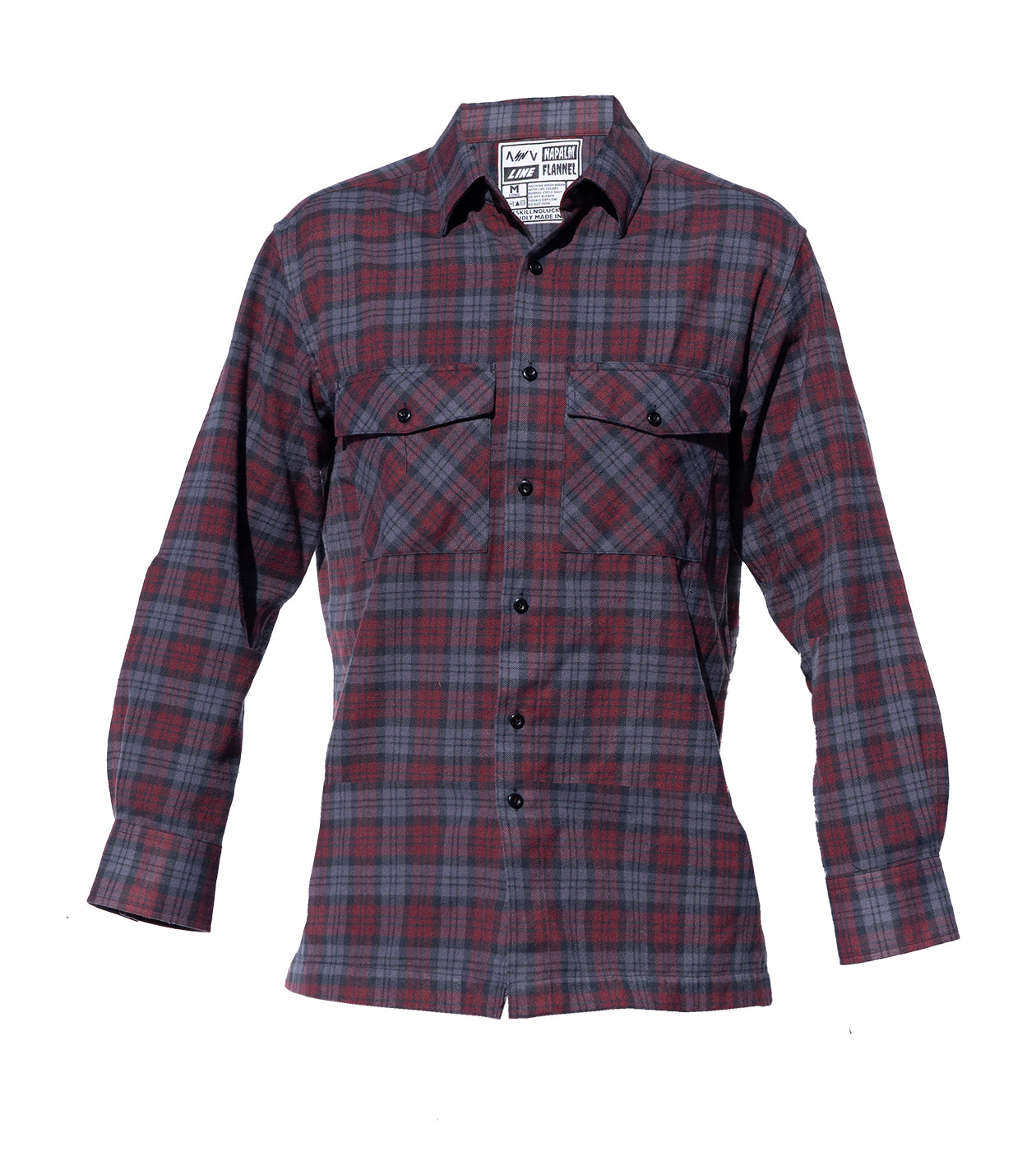 NAPALM FLANNEL Smoked Burgundy