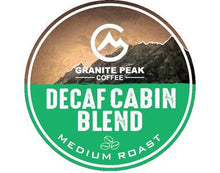 Load image into Gallery viewer, Decaf Cabin Blend Single Cups 24ct