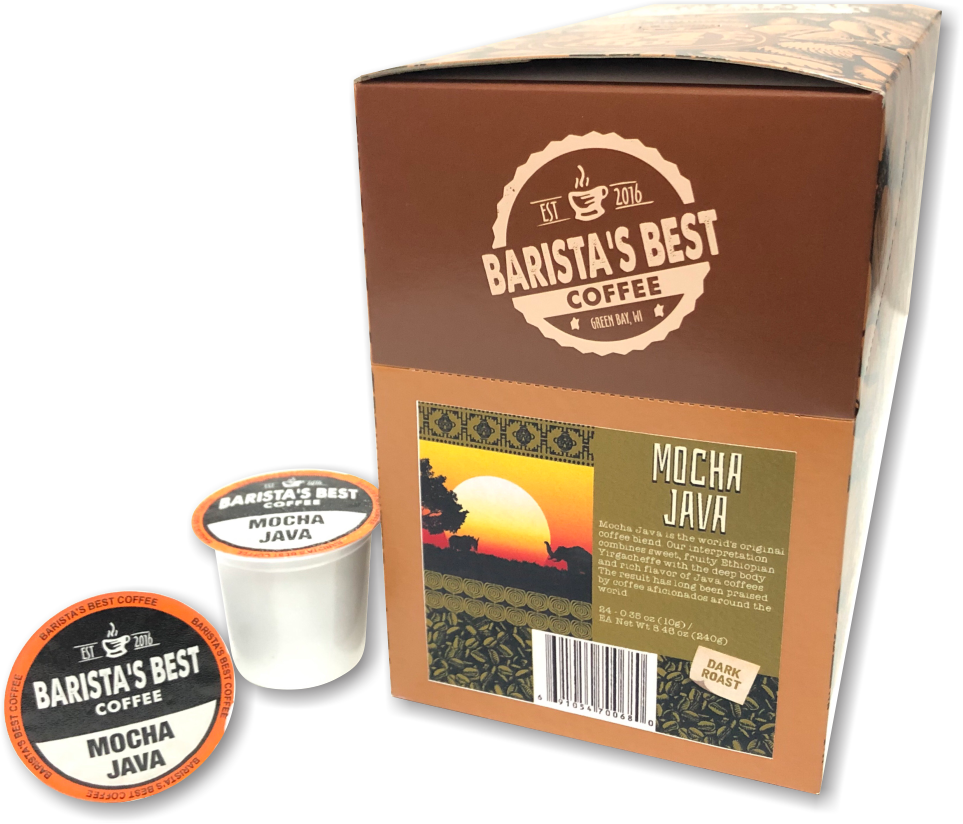 Mocha Java Single Cups 24ct