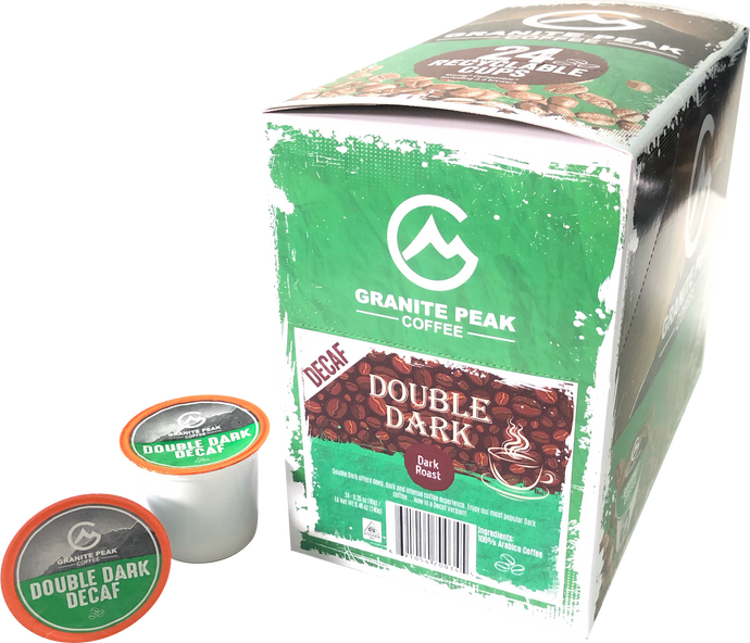Double Dark Decaf Single Cups 24ct