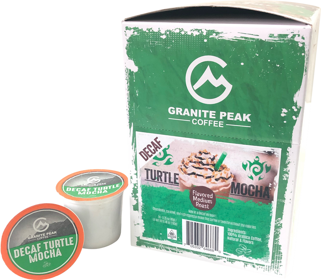 Decaf Turtle Mocha Single Cups 24ct
