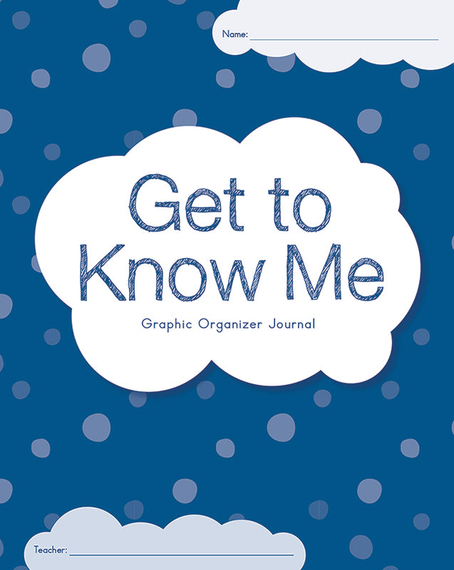 Get To Know Me Graphic Organizer Journal: 2-3 (Set of 30)