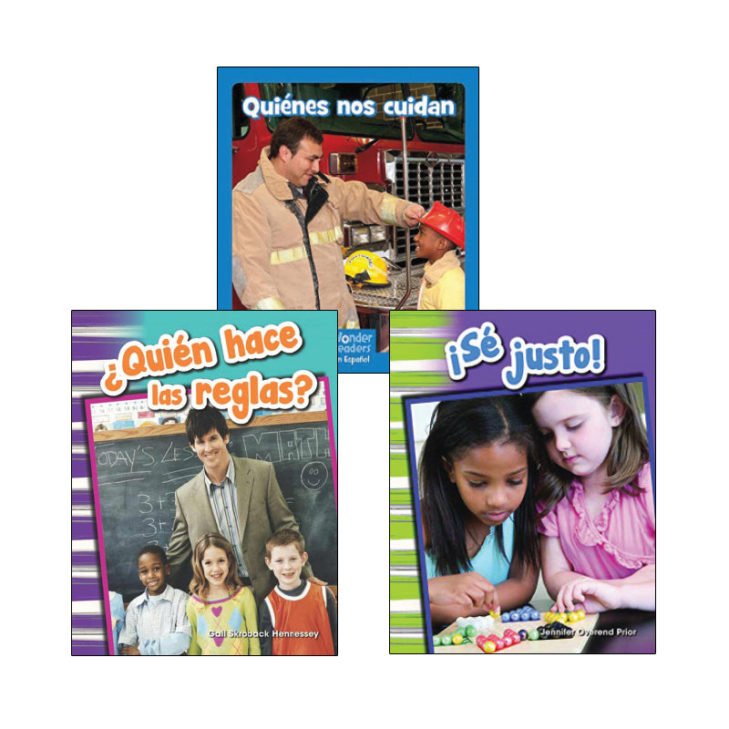 Kindergarten Spanish Social Studies Variety Pack: Civics and Government