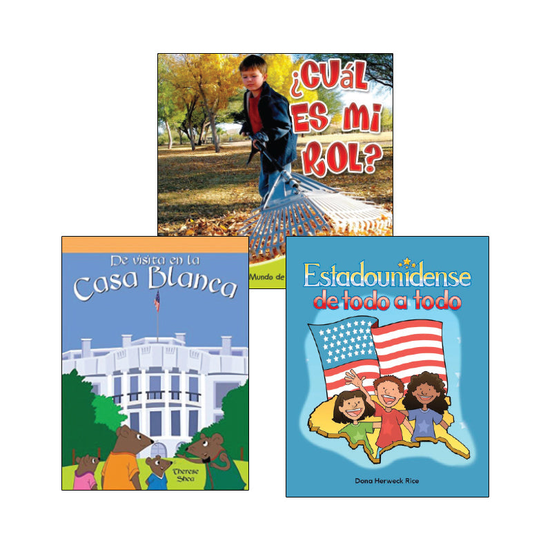First Grade Spanish Social Studies Variety Pack: Civics and Government