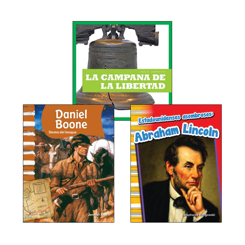 First Grade Spanish Social Studies Variety Pack: History