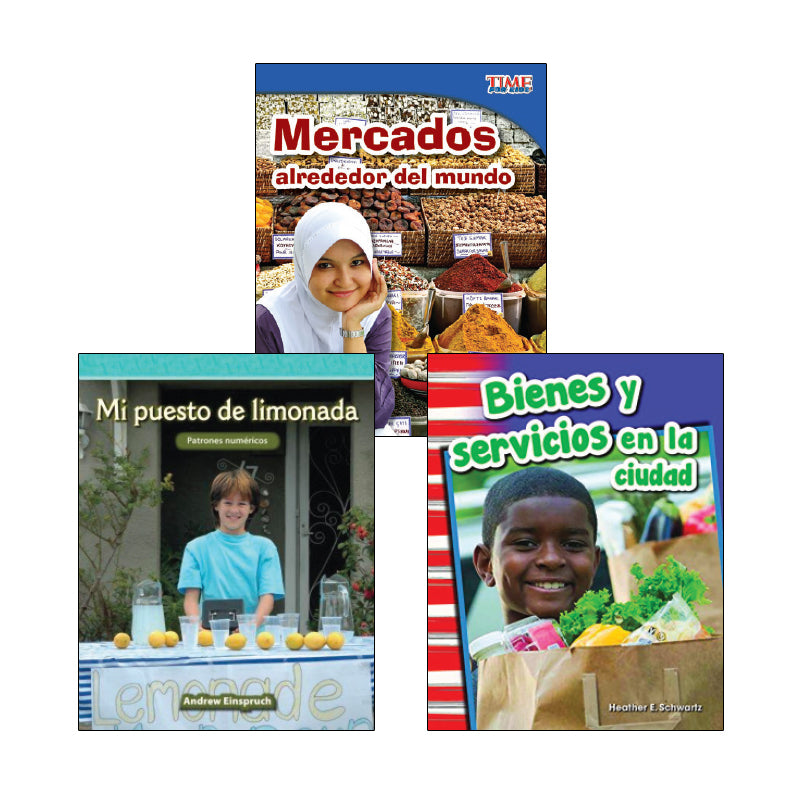 Second Grade Spanish Social Studies Variety Pack: Economics