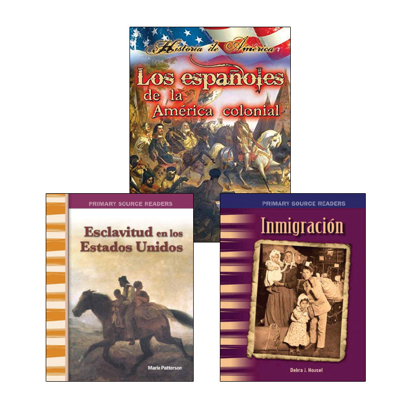 Fourth Grade Spanish Social Studies Variety Pack: History