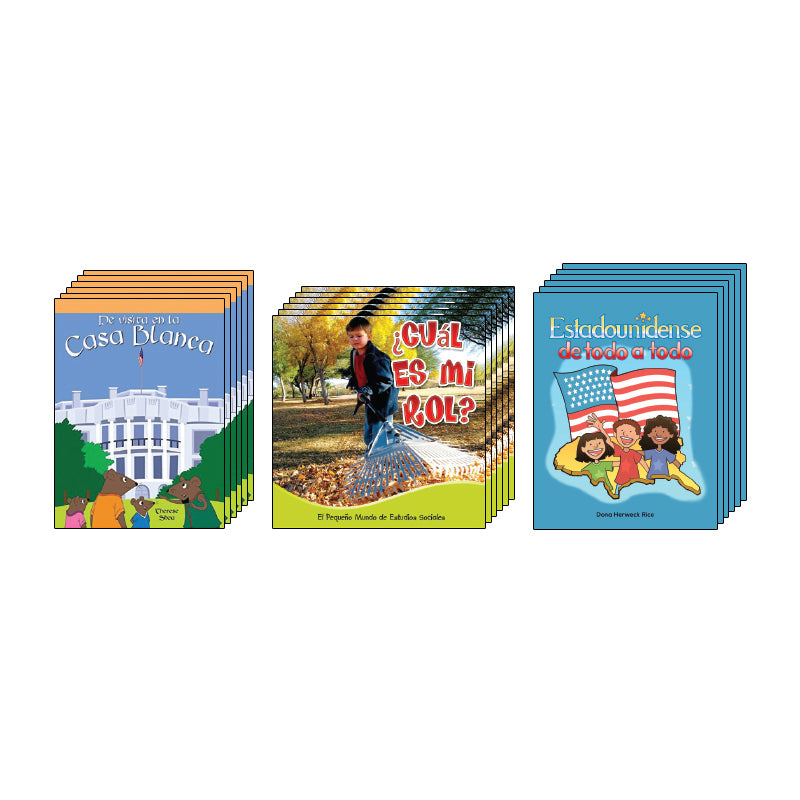 First Grade Spanish Social Studies Class Pack: Civics and Government