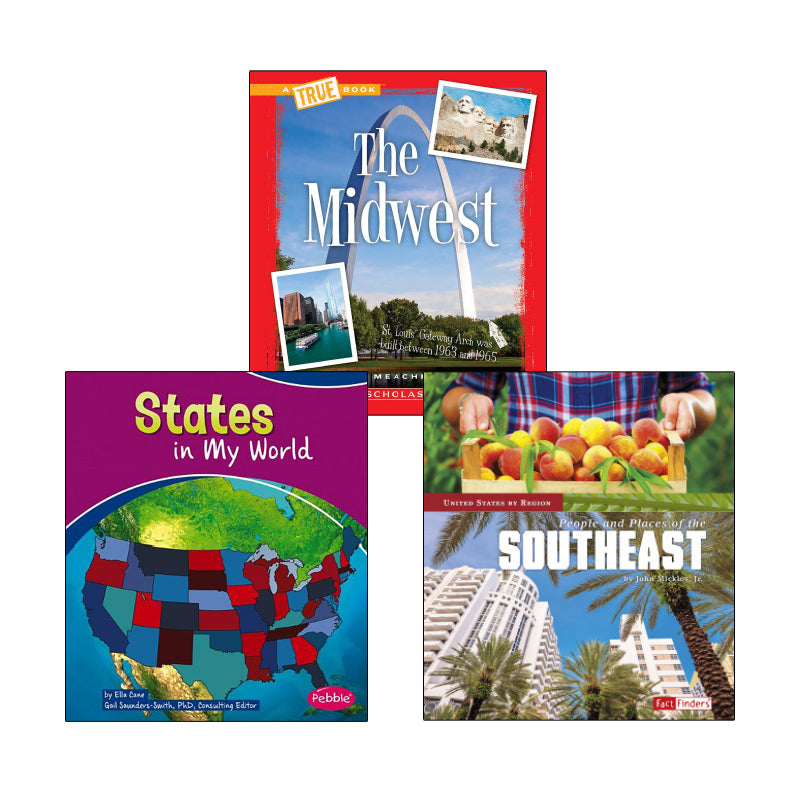 Regions and States- Grades 2-3: Variety Pack