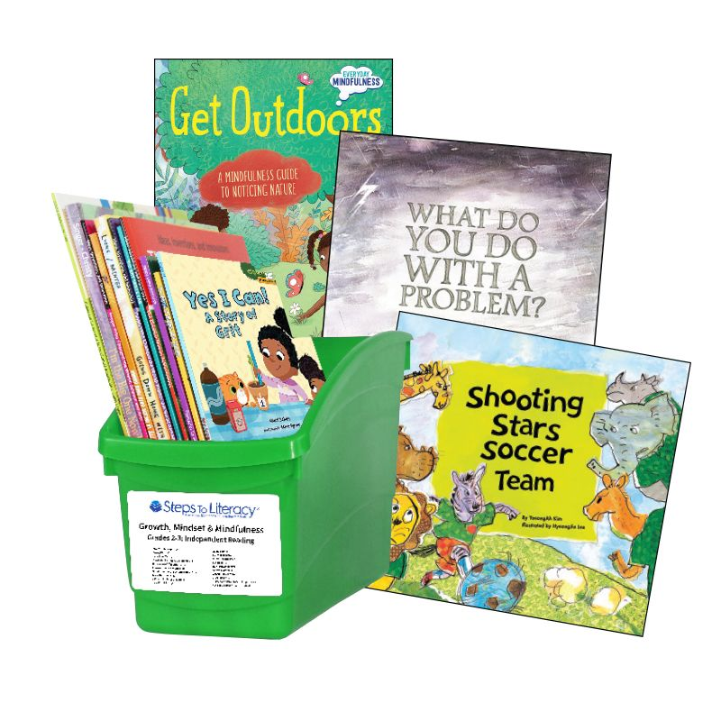 Growth Mindset & Mindfulness - Grades 2-3: Thematic Book Bin