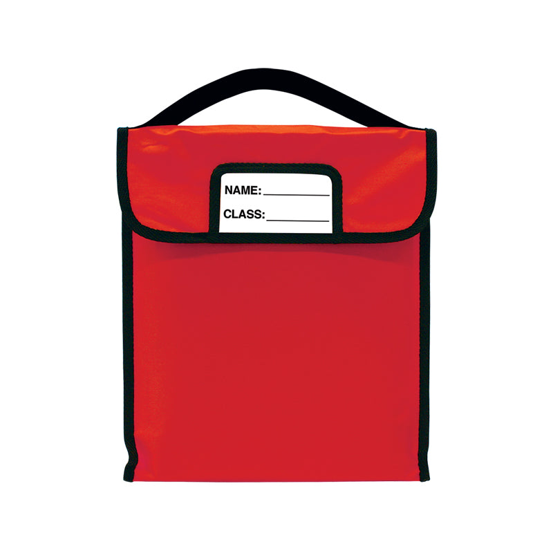 "Pack-N-Read w/Elastic Handle - Single Red (10""x12"")"