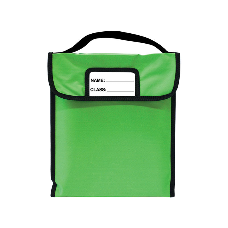 "Pack-N-Read w/Elastic Handle: Single Green (10""x12"")"