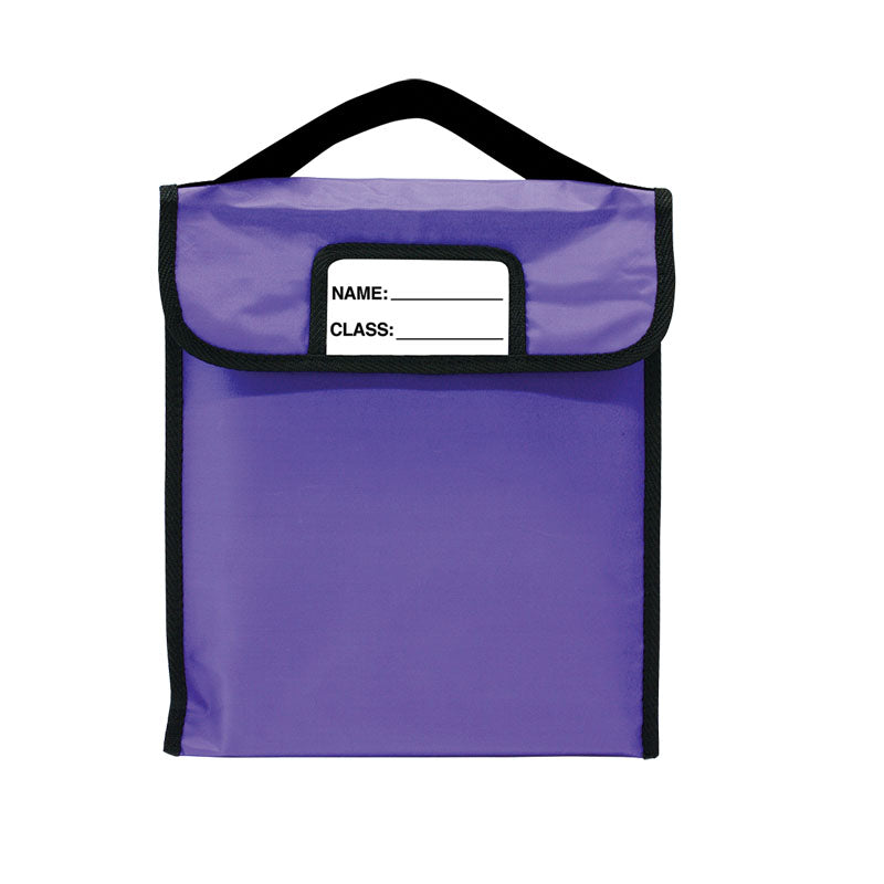 "Pack-N-Read w/Elastic Handle: Single Purple (10""x12"")"