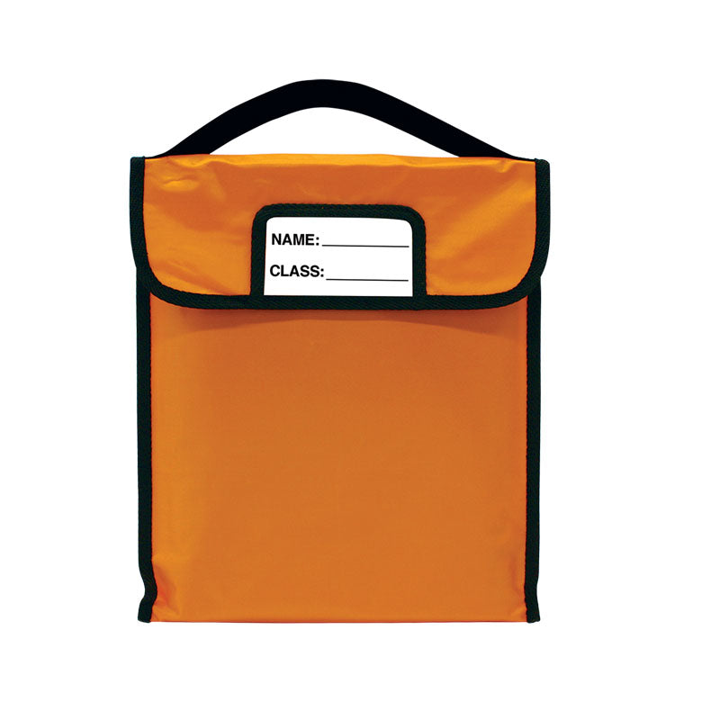 "Pack-N-Read w/Elastic Handle: Single Orange (10""x12"")"