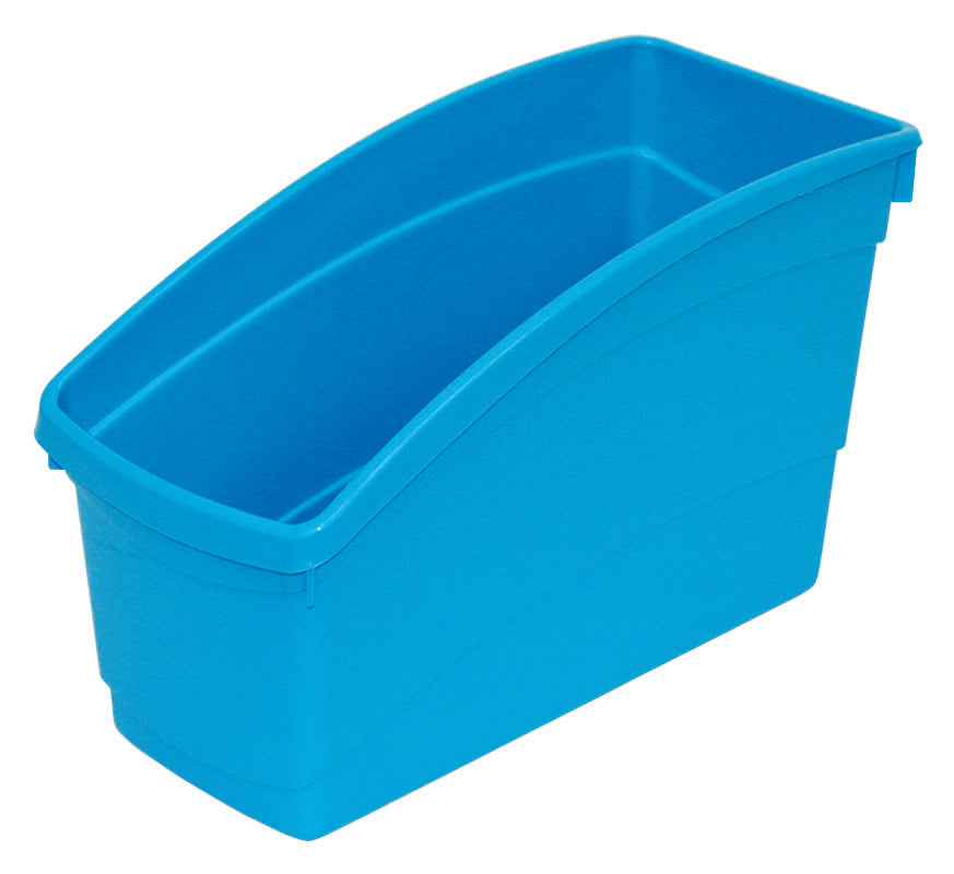 Plastic Book Bin- Bright Blue