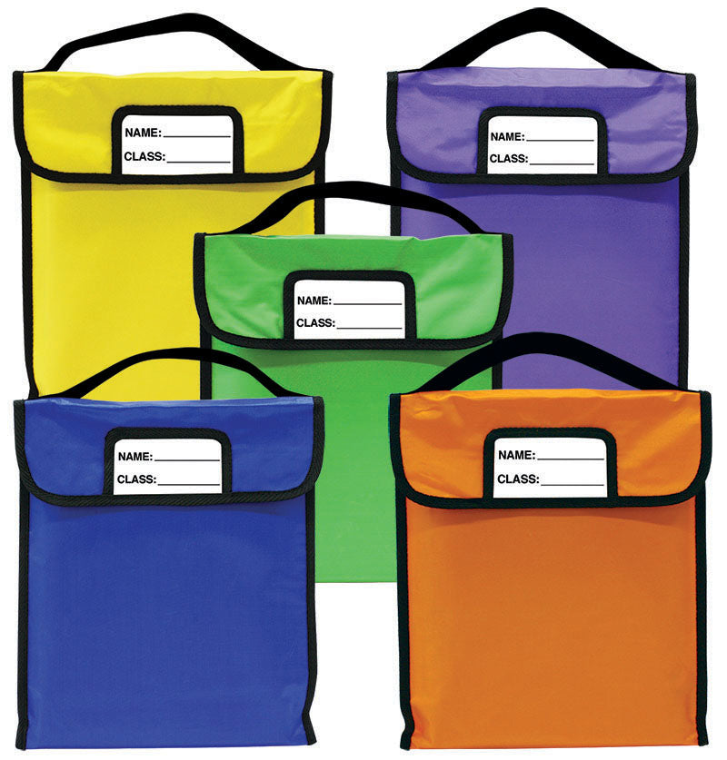 "Pack-N-Read Bag w/Elastic Handle - Set Of 5 (11""x13"")"