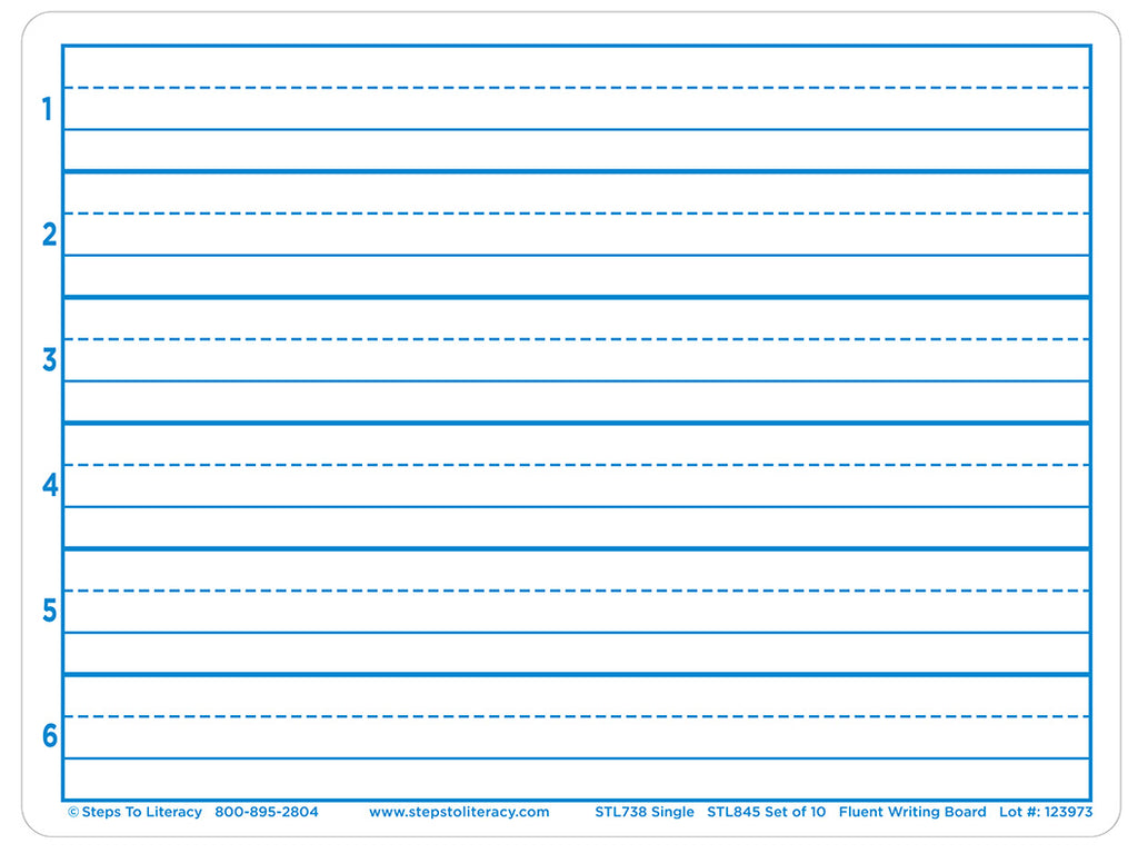 Lined Fluent Writing Board: Double Sided (Single)