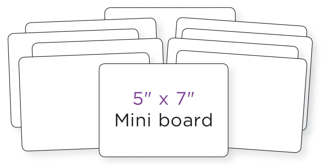 "Dry Erase Boards: 5"" X 7"" (Set of 10)"