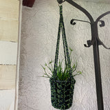 Hand Crocheted Macrame Black/Green
