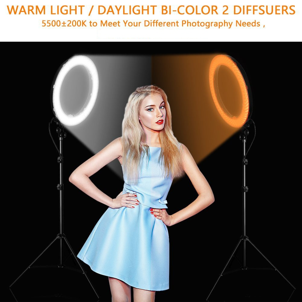 """18"""" Dimmable photography LED Ring Light with Tripod"""