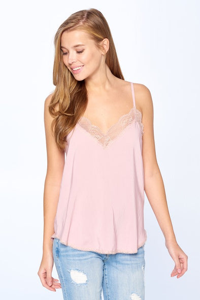 Shop Olivia Vintage Rose Cami Its time to throw out your old plain tanks, and replace it with our eye stopping Olivia cami! Delicate lace adorns the silk hemline and flows into a relaxed fit. Pair with some denim skinnies and our Mary espadrilles for a perfect summer look! Silk like material Delicate lace hemline Adjustable strap Relaxed fit  16.00 USD // ShopBellaAllure.com