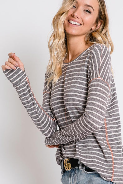 Crew Striped Pullover | Bella Allure Boutique
