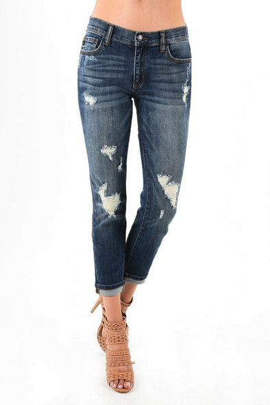 Debbie Distressed Boyfriend Jean | Bella Allure Boutique