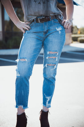 Sadie Distressed Skinny Jean | Bella Allure Boutique