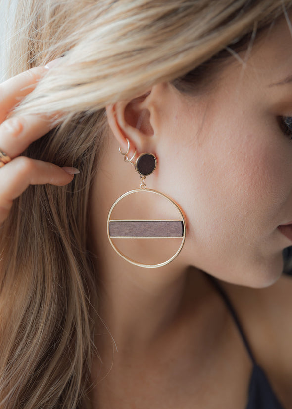 Shop Duchess Gold Earrings Our edgy gold with detailed earrings adds  a bit of sass to your style!  16.00 USD // ShopBellaAllure.com