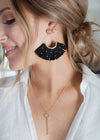 Tribal Vibes Black Earrings | Bella Allure Boutique