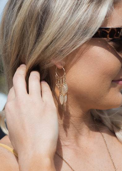 Shop In Your Dreams Gold Earrings Our In Your Dreams Gold Earrings are an elegant trend forward addition! The perfect size gold dangle will top off and look!  18.00 USD // ShopBellaAllure.com