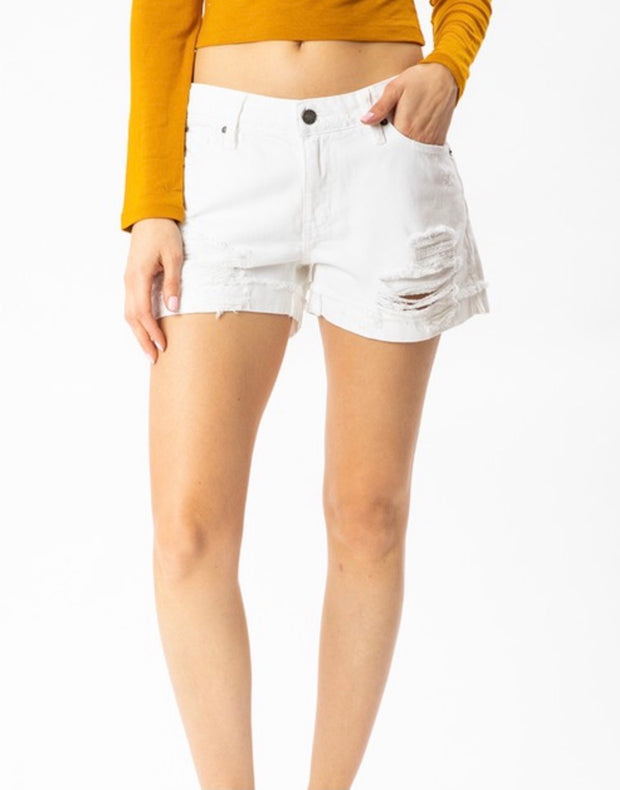 Bright Side Shorts White