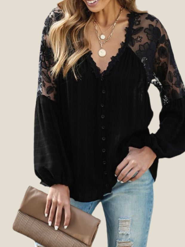 Rekindle Lace Button Down