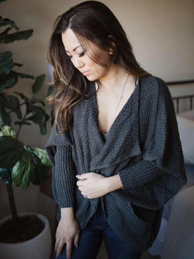 Well Rounded Cardigan Grey