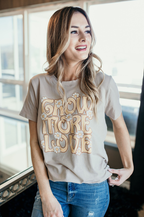 Shop Grow More Love Graphic T A very important message; this graphic tee sais it all with a fun, relaxed style!     29.00 USD // ShopBellaAllure.com