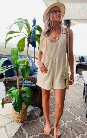 Laura Linen Romper | Bella Allure Boutique