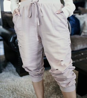 Shop Me Time Joggers Our Me Time Joggers are a relaxed fit distressed must have! Youll never want to take them off! So cute and stylish yet so cozy! 38.00 USD // ShopBellaAllure.com