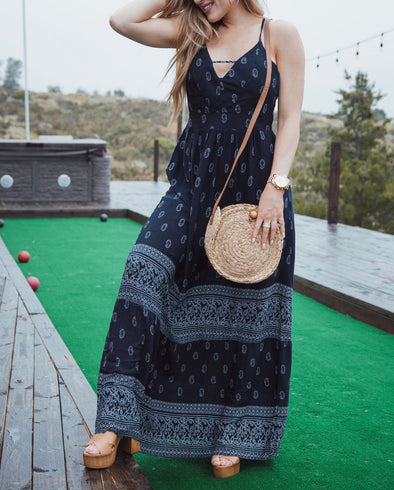 Deep Blue Dress | Bella Allure Boutique