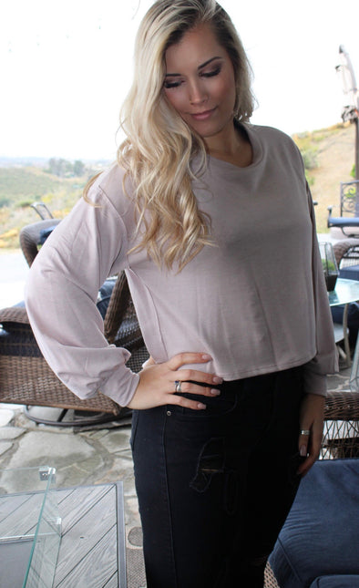 Shop Elijah Top Our Elijah Top is a simple yet comfortable basic staple that we all need in our wardrobe! It's a soft subtle pink color that goes well with denim, black or even white.  34.00 USD // ShopBellaAllure.com