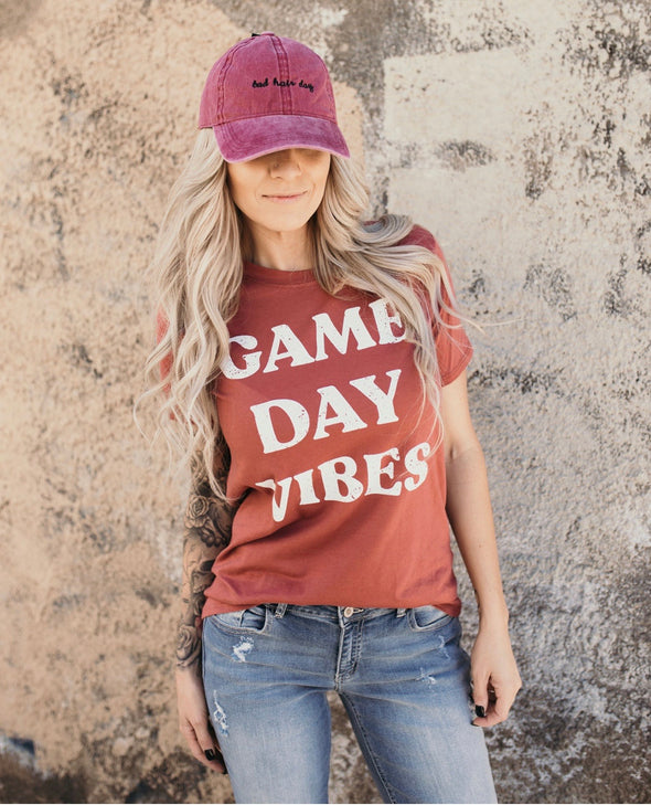 Shop Game Day Tee Game Dayt. This fun little graphic tee can be paired with so many different pieces and styles. Relaxed fit and true to size.  32.00 USD // ShopBellaAllure.com