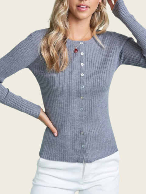 Ready Or Not Cardigan Top Grey