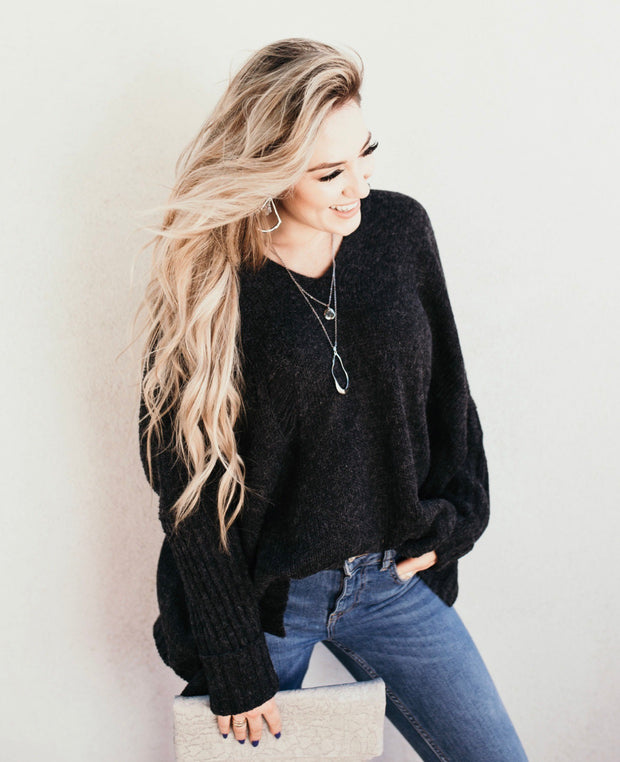 Shop Wine Me Down Sweater Be trendy and stay warm in this loose fit distressed hoodie sweater!  Fitted sleeves ad cozy fit makes it perfect for any outfit or any occasion. Cozy up next to the fire place and a glass of wine with this one. 42.00 USD // ShopBellaAllure.com