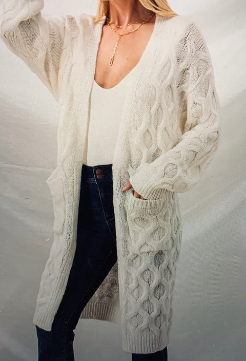 Blair Cable Knit Cardigan